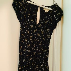 Denim and supply print dress